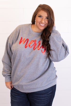 sku17587 | Merry Foil Graphic Sweatshirt