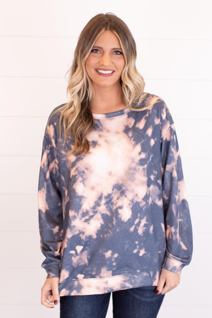 sku16664 | Tie Dyed Tunic Sweatshirt