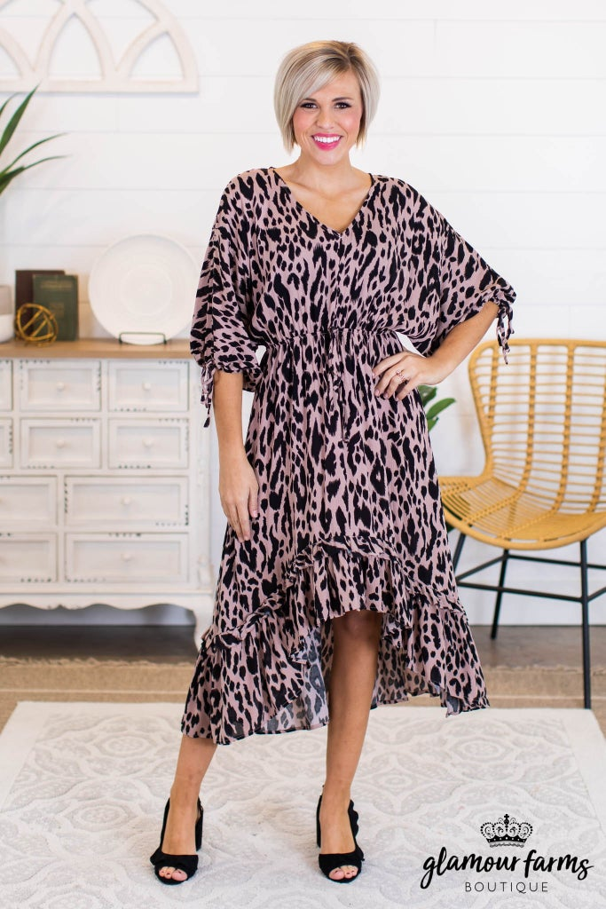 sku10902 | Animal Print Hi-Lo Dress