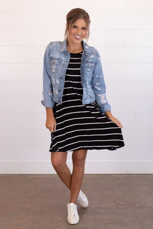 sku15383 | Striped Tank Dress