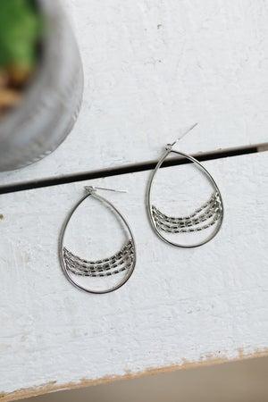 sku19055 | Teardrop Chain Dangle Earrings