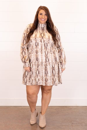 sku16266 | Animal Print Tiered Dress