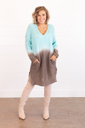 sku14395 | Ombre Tunic Sweater