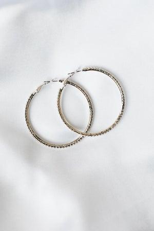 sku18620 | 49mm Crystal Hoop Earrings