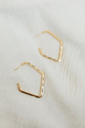 sku20733 | Textured Geometric Hoop Earrings