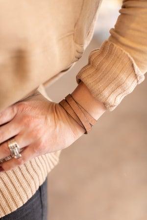 sku17718 | Leather Wrap Bracelet