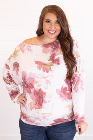 sku17664 | Floral Dolman Sleeve Top