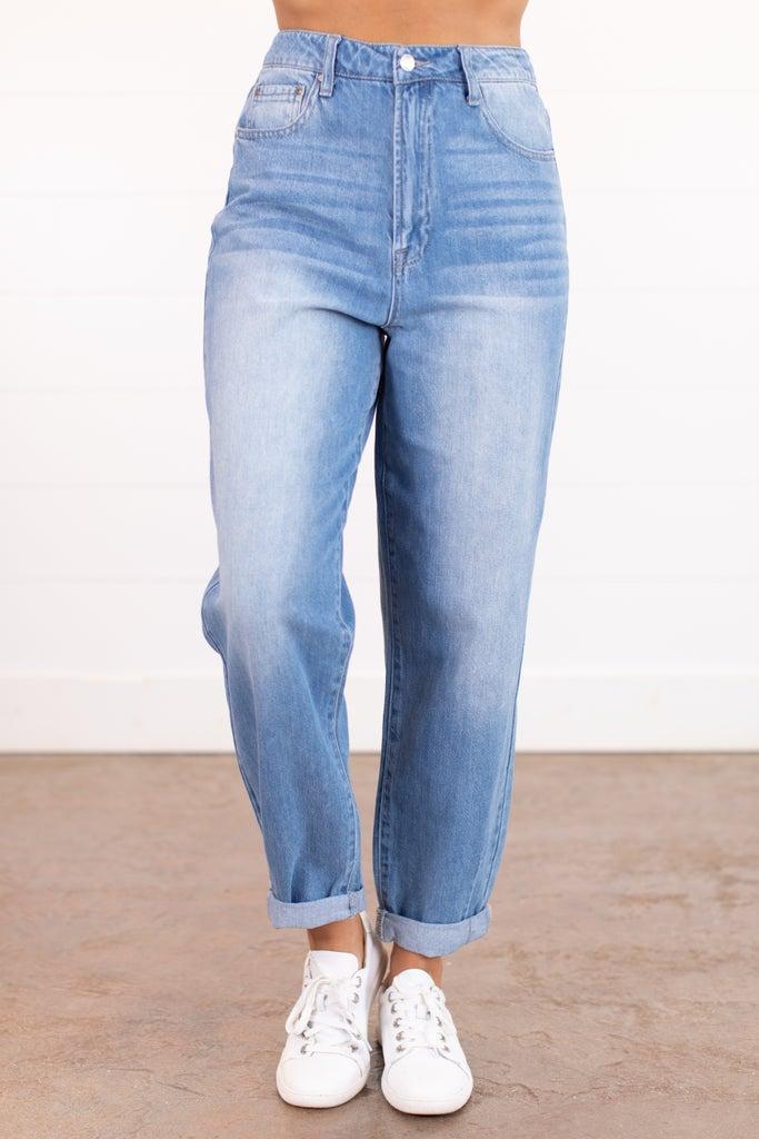 sku15907   High Rise Mom Jeans