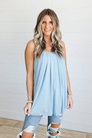 sku20253 | **Daily Deal** Pleated Cami Top