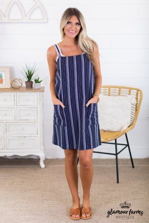 sku13489 | **Daily Deal** Front Pocket Slip Dress