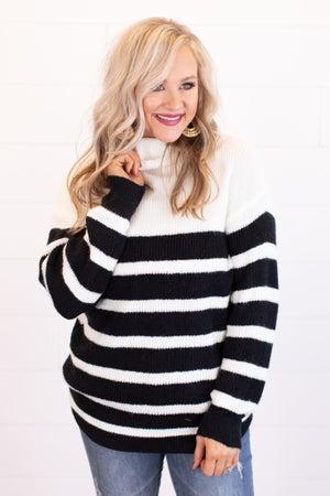 sku16555 | Striped Turtleneck Sweater
