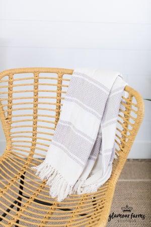 sku14024 | Striped Knit Throw