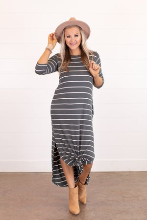 sku16223 | Striped Maxi Dress