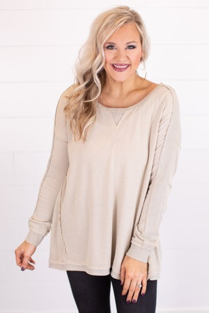 sku17911 | Heathered Knit Top