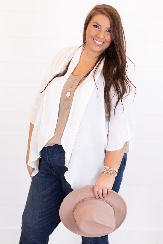 sku13131 | **Daily Deal** Lightweight Waterfall Blazer