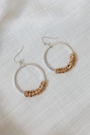 sku19056 | Ring Charm Dangle Earrings
