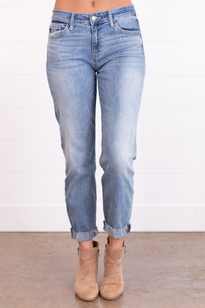 sku17452 | Mid-Rise Cuffed Boyfriend Jeans