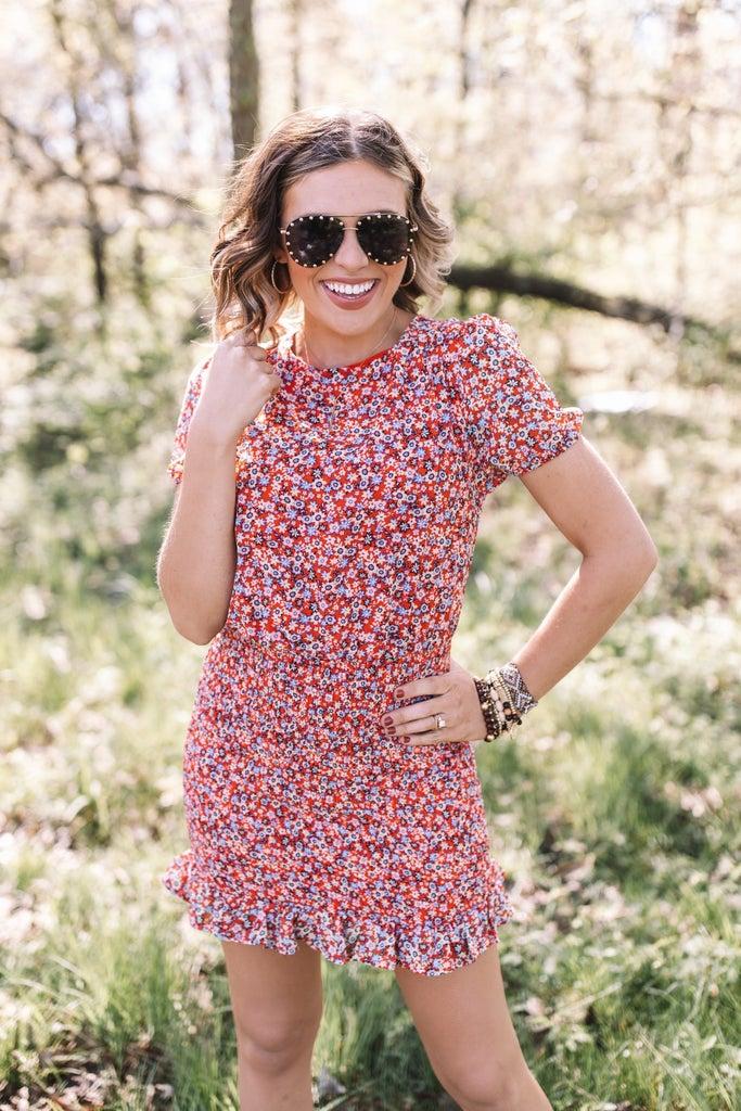 sku19987 | Floral Smocked Skirt Dress