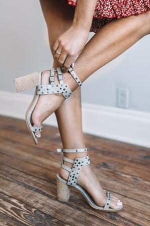 sku18863   Celeste Studded Block Heel Sandal
