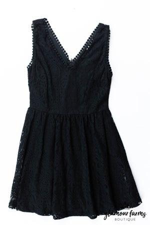 sku13172   Lace V-Neck Dress