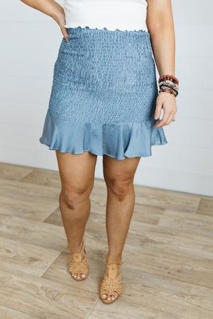 sku21043   Smocked Skirt