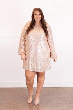 sku16484 | Sequined Shift Dress
