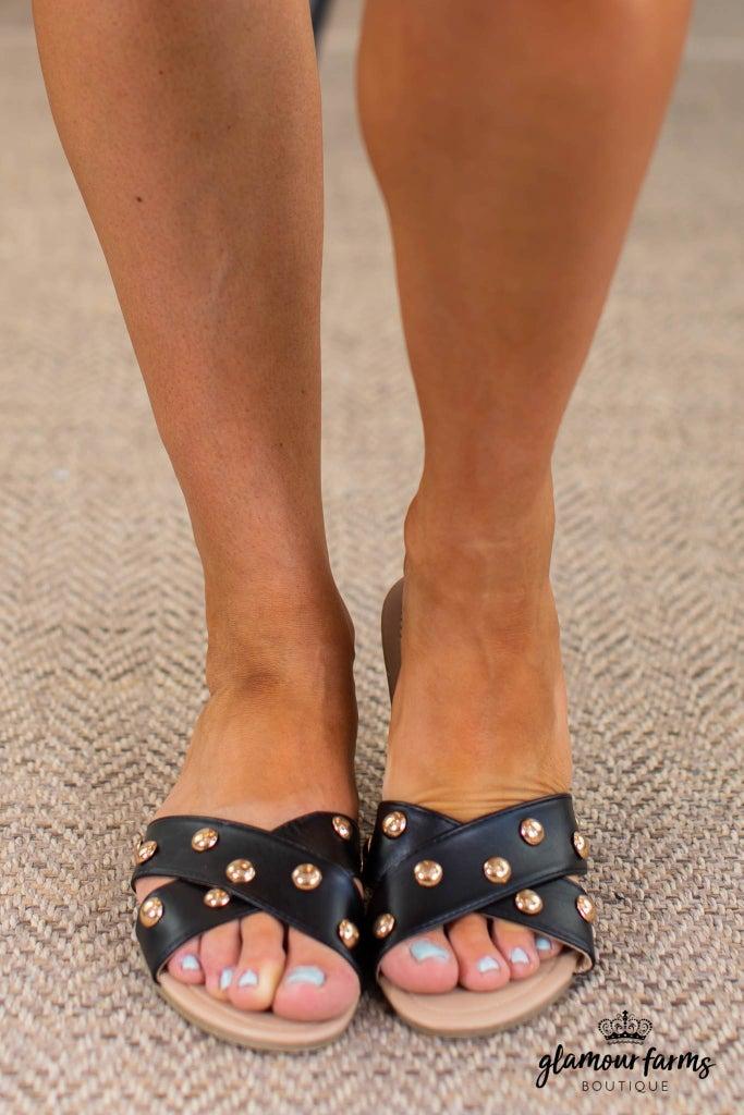 sku14761   Showstopper Studded Sandals