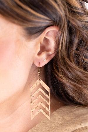 sku17799 | Cork Chevron Earrings