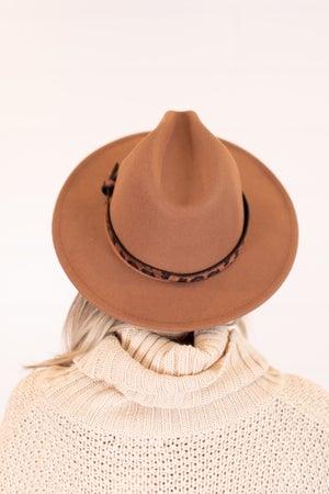 sku16331 | Animal Print Belted Fedora Hat