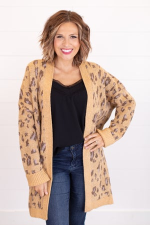 sku17539 | Animal Print Sweater Cardigan