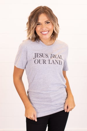 sku15990 | Jesus Heal Our Land Graphic Tee