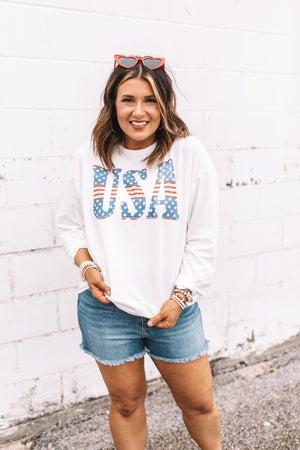sku21076 | USA Graphic Sweatshirt