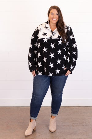 sku15412 | Star Print Sherpa Pullover