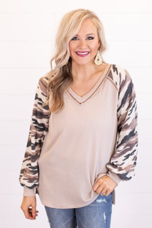 sku16857 | Camo Sleeve Tunic