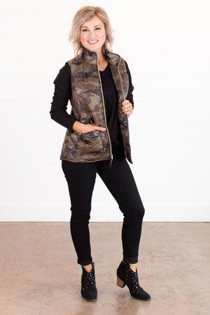 sku15872 | Quilted Camo Vest