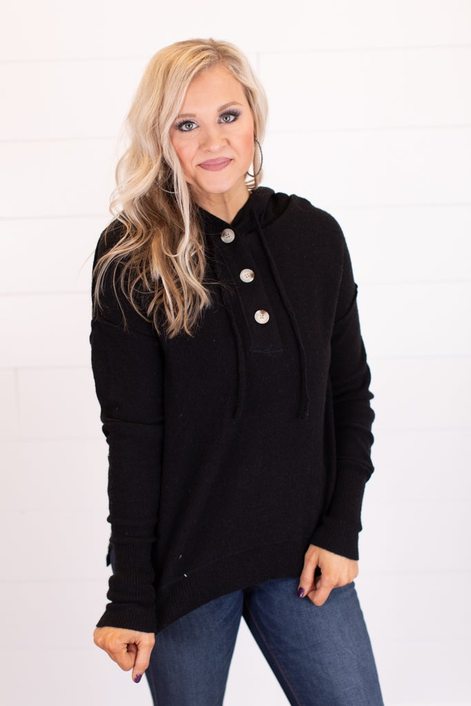 sku17509   Drawstring Hooded Sweater