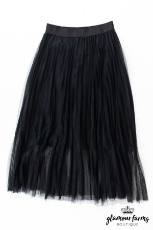 sku13418 | **Daily Deal** Tulle Midi Skirt