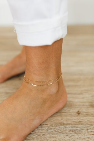 sku20714   Mixed Chain Ankle Bracelet