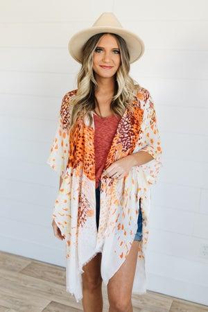 sku19070 | Airy Floral Kimono
