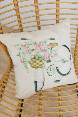 sku19423 | **Daily Deal** Spring Floral Bike Pillow Cover