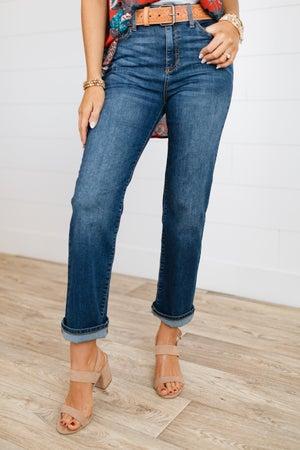 sku18325 | High Rise Straight Leg Jeans