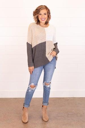 sku17163 | Color Block Knit Sweater