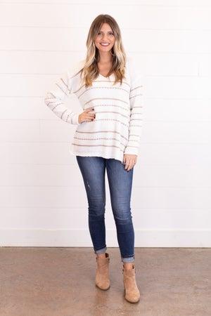 sku15417 | Metallic Striped Sweater