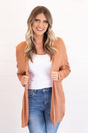 sku17386 | **Daily Deal** Textured Knit Kimono Cardigan