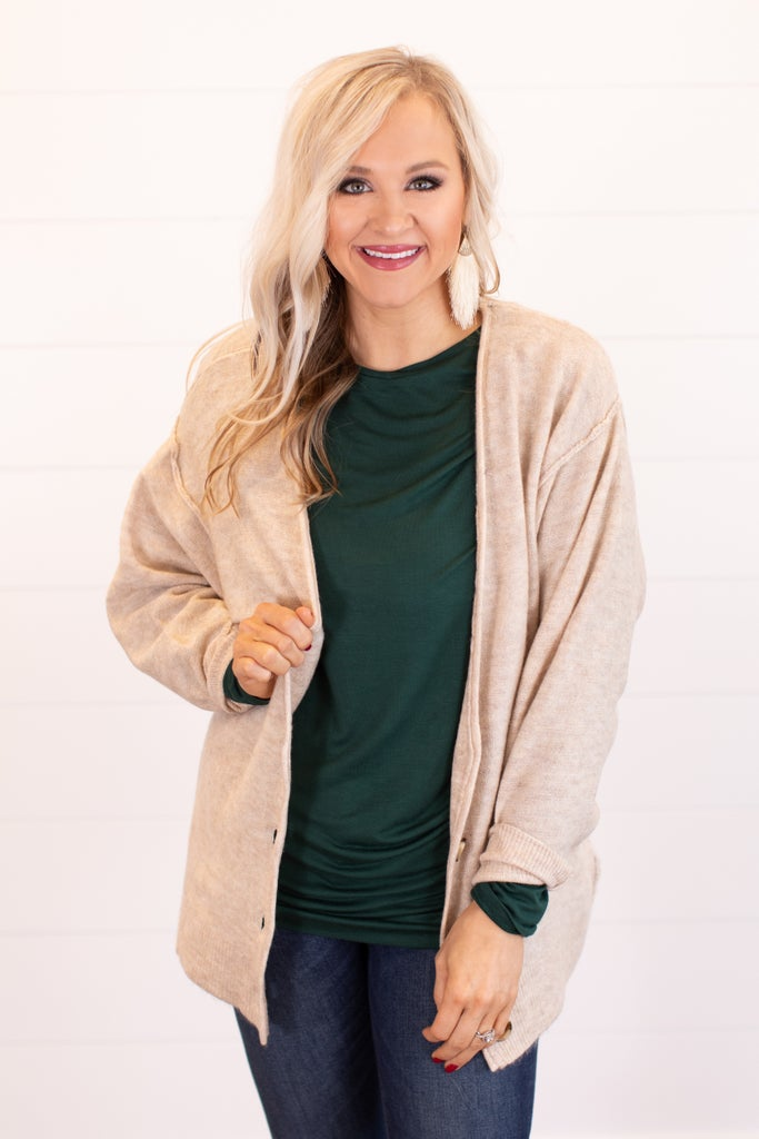sku16315   Heathered Knit Sweater Cardigan
