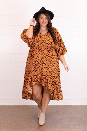sku16588 | Animal Print Hi-Lo Midi Dress