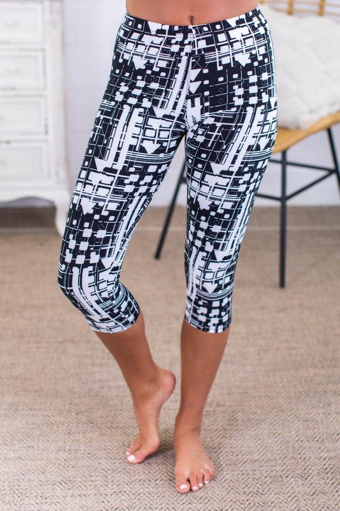 sku13759   **Daily Deal** Abstract Print Active Leggings