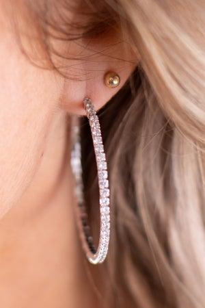 sku17262 | Crystal Hoop Earrings