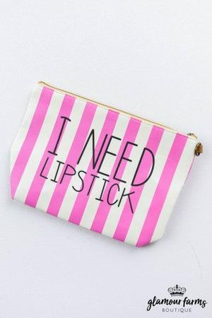 sku12928   I Need Lipstick Makeup Bag