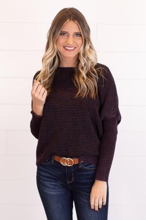 sku17225 | Washed Ribbed Knit Sweater